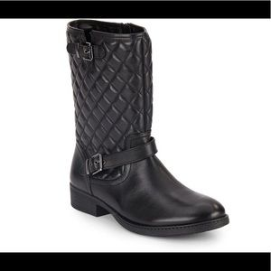 Saks Fifth Avenue Ani Quilted Moto Boots Sz 6